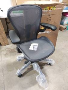 SIZE B HERMAN Miller Aeron Ergonomic Office Chair with Tilt Limiter, Adjustable Posture Fit