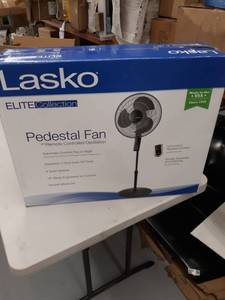 "Lasko Elite Collection 16"" Pedestal Fan With Remote Oscillation And Thermostat"