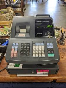 Sharp Electronic Cash Register XE-A22S And Cash Register