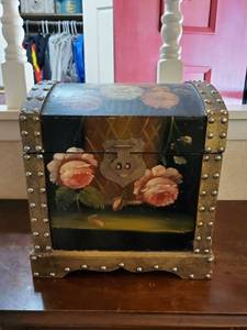 Hand Painted Rose Chest