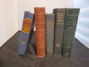 Lot of 5 Vintage Law Books