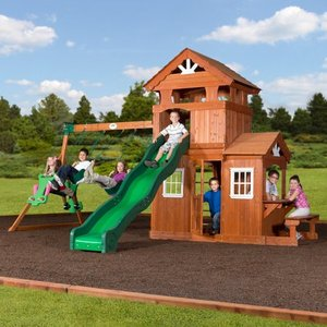 Backyard Discovery Shenandoah Cedar Wood Swing Set. *Complete Set Ready To Assemble
