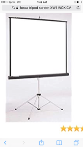 New in box 100 inch tripod stand movie screen
