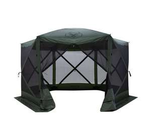 Gazelle GG600GR 8 Person 6 Sided Portable Pop Up Gazebo Screened Tent, Green MSRP $ 259.99