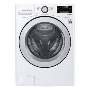 LG - 4.5 Cu. Ft. 10-Cycle Front-Loading Smart Wi-Fi Washer with 6Motion Technology - White