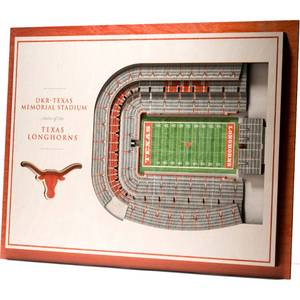NCAA Texas Longhorns 5-Layer StadiumViews 3D Wall Art