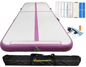 PreGymnastic 20ft Airtrack Tumbling Mat 8in Thickness P3, Inflatable Gymnastics Mat