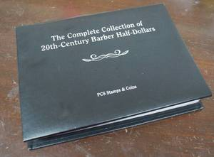Collection of 20th Century Barber Half Dollars - 13 Coins In Collector's Book - WOW! Must see!!!