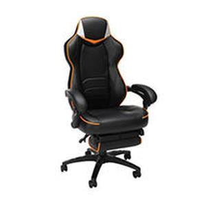 Gaming Chair with Footrest Black/Orange/White - Fortnite