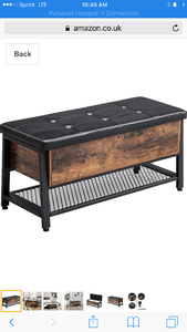 New in box industrial looking storage bench