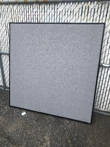 New 5' x 5' divider panel would make great sound deadening because fabric covered good for  Covit 19 sectioning off use your imagination