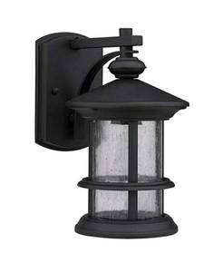 Chloe Lighting Fixture Transitional 1-Light Rubbed Black Outdoor Wall Sconce