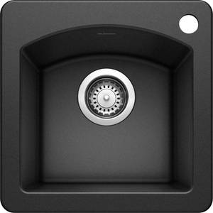 Blanco 440204 Diamond 15-Inch-by-15-Inch Bar Sink, Anthracite Finish