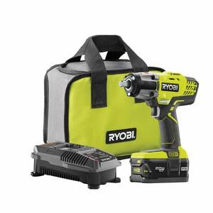 "Ryobi Kit P1833 3 Speed 18v 1/2"" Cordless Impact Wrench P 261 4ah Battery"