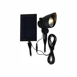 Hampton Bay Solar Black Outdoor Integrated LED 3000K 70-Lumens Landscape Spot Light with Solar Panel and Wire