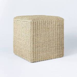 Lynwood Square Woven Cube Natural - Threshold designed with Studio McGee