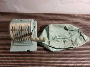 Paymaster Pastel Green Ribbon Writer 1950s - No Key