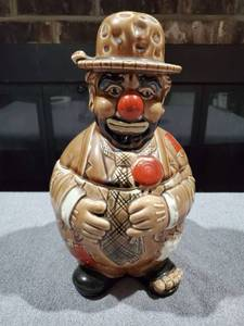 Vintage Hobo Clown Cookie Jar