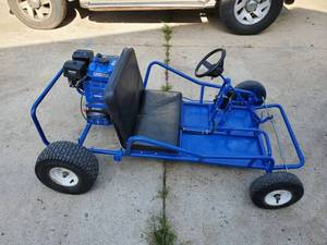 Blue Go Cart -New Duramax Engine - Electric Start - New Clutch -New Chain - New Sprockets