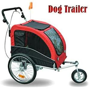 Aosom Elite II 2-In-1 Pet Dog Bike Trailer and Stroller with Suspension and Storage Pockets Retail: $182.99
