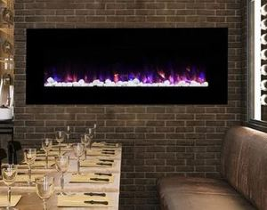 Northwest Wall-mounted 54-inch Electric Fireplace with Remote - 54 x 20 x 4.75 Retail: $426.99