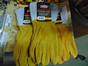 COWHIDE WELDING GLOVES SIZE M