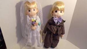 PRECIOUS MOMENTS WEDDING DOLLS