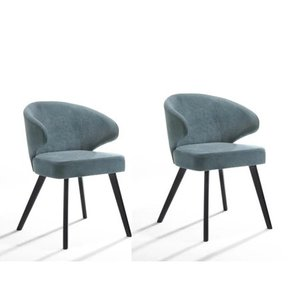 Modrest Quinn Modern Teal & Black Dining Chair (Set of 2)