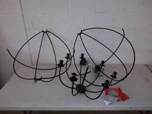 "Large ~ 7 Light (30"") ~ Metal Orb Chandelier - Black Globe Sphere Ceiling Lighting"