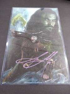 signed aquaman poster