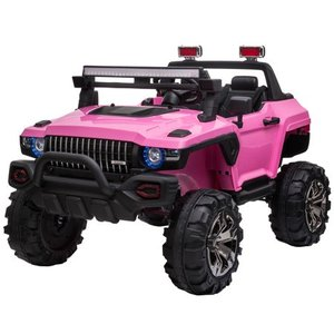 Aosom 12V Ride On Car 2 Seat SUV Truck w/ Remote Control, 3 Speeds, LED Light Bar, Audio Input Retail: $335.49