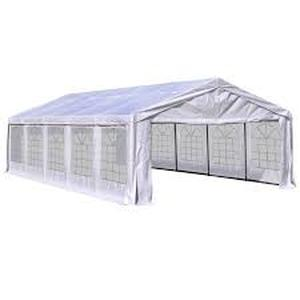 OutSunny White Heavy Duty Party and Event Canopy 32' x 16' x 9.2'(Top) / 6.6'(Sides)