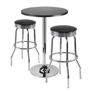 "Summit 3-Pc Bar Table Set, 24"" Table and 2 Stools Retail: $205.99"
