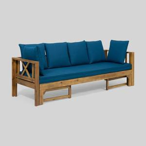 Long Beach Outdoor Extendable Acacia Wood Daybed Sofa by Christopher Knight Home Retail: $599.99