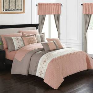 Chic Home Emily 20 Piece Queen Bed In a Bag Comforter Set Bedding