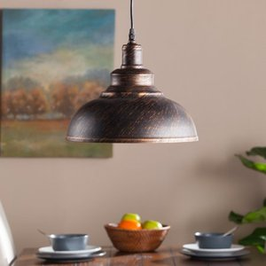 Maeve Bell Pendant Lamp - Rustic Black/Copper - Aiden Lane