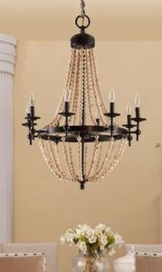 Sonoma Natural Beaded Brown 8-light Chandelier Retail: $259.99
