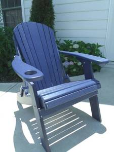 Navy Blue Poly Adirondack Chair