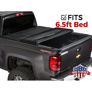 "Gator ETX Soft Tri-Fold Truck Bed Tonneau Cover | 59116 | Fits 2019 - 2020 Chevy/GMC Silverado/Sierra 1500 ""New Body Style"" w/o Factory Side Storage Boxes 6'6"" Bed 