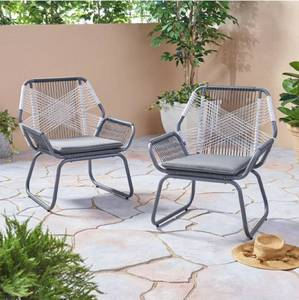 Milan Outdoor Faux Rattan Club Chair (Set of 2) by Christopher Knight Home Retail: $277.49