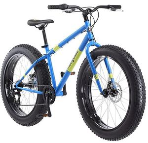 Mongoose Dolomite Fat Tire Men's Mountain Bike | 17-Inch/Medium High-Tensile Steel Frame, 7-Speed, 26-inch Wheels | R4144 Retail $599.99- Light Blue