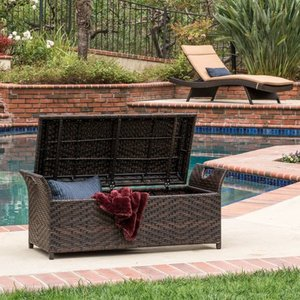 Wing Outdoor Wicker Storage Bench by Christopher Knight Home Retail: $192.99