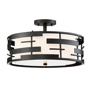 Nuvo Lighting 3 Light Semi Flush Mount Light
