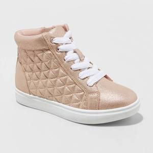 Girls' Meagan Hightop Sneakers - Cat & Jack Rose Gold 3