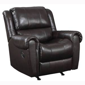 Kadri Brown Italian Leather Rocker Recliner Chair