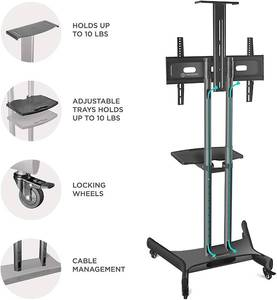 "Onkron TS1551 Mobile TV Cart Stand for 32"" to 65"" TV"