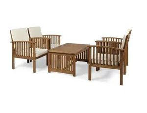 Carolina Acacia 4 piece Outdoor Sofa Set by Christopher Knight Home Retail: $1174.99