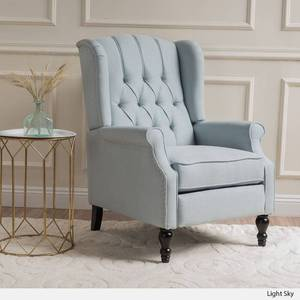 Walter Contemporary Tufted Fabric Recliner by Christopher Knight Home