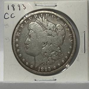 1893-CC  Morgan Silver Dollar Coin