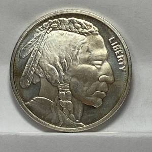 One Troy Ounce Silver - Liberty Indian Buffalo Coin